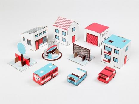 Papierowe miasto. Wystawa dizajnu dla dzieci