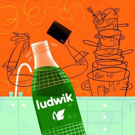 Ludwik - ilustracja Pawła Jońcy do Elementarza polskiego designu
