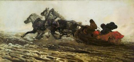 Józef Chełmoński, Trójka (Sanna), 1880, olej na płótnie - ze zbiorów Muzeum Śląskiego w Katowicach