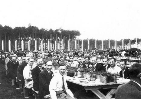 biesiada pracowników Zakładów Południowych z prezydentem I.Mościckim, 14 VI 1939