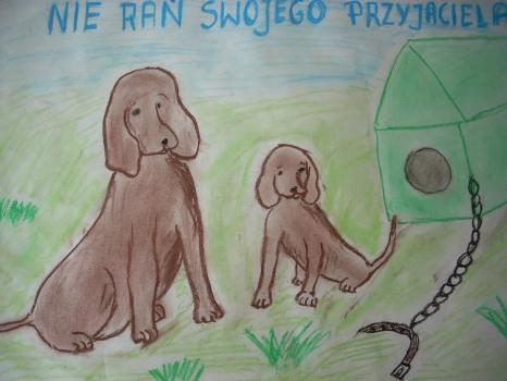 """Wystawa plakatów w ramach projektu edukacyjnego """"Dbamy o zwierzęta"""""""