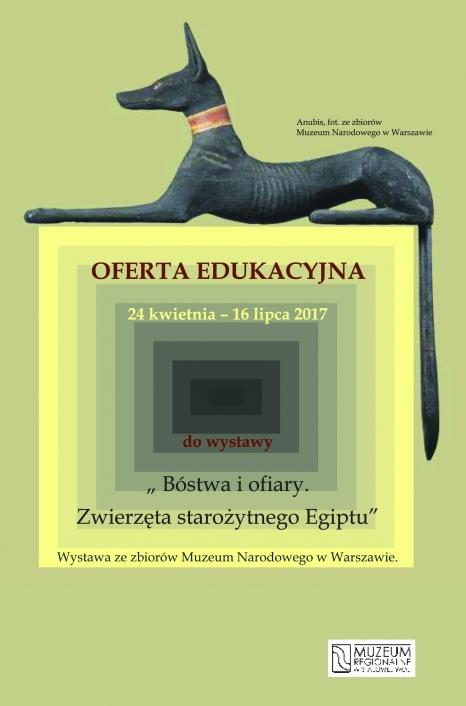 """Oferta edukacyjna do wystawy """"Bóstwa i ofiary. Zwierzęta starożytnego Egiptu"""""""