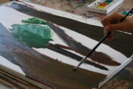 Poplenerowa wystawa malarstwa uczestników letniego pleneru