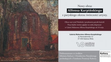 Nowe obrazy w Galerii Malarstwa Alfonsa Karpińskiego