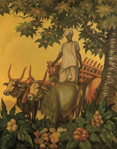 S. Norblin, Poganiacz bydła, olej na płótnie