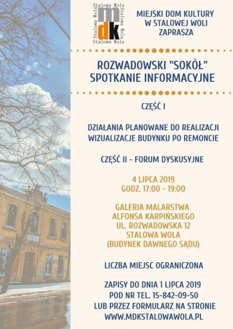 """Rozwadowski """"Sokół"""" – spotkanie informacyjne"""