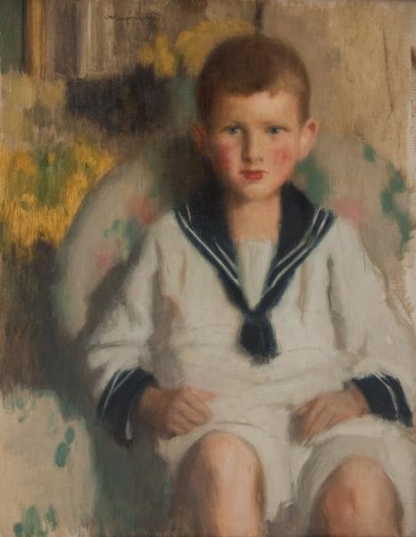 A. Karpiński, Portret chłopca w marynarskim ubranku