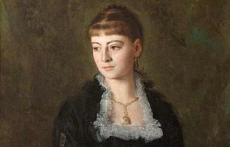 H.Rodakowski, Portret dziewczyny z wachlarzem